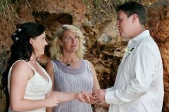 Gabby & Brett's wedding - Ring exchange