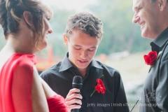 2013 Angela & Mark, groom's son saying the Ring exchange wording