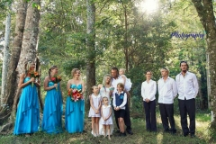 Sarah & Pete. Beautiful Family wedding with sand ceremony in rainforest  Woolgoolga Reserve. Photo by Sarah Rook